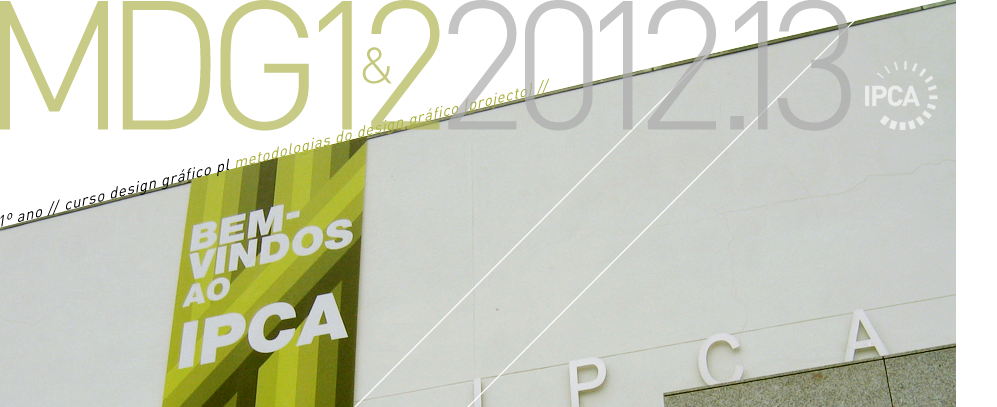 IPCA // BLOG.MDG // 2012.13